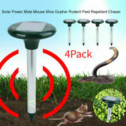 2pc Yard Solar Ultrasonic Sonic Mouse Mole Pest Rodent Repeller Repellent Cotrol