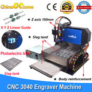 Steel Cnc 3040 Router Milling Engraving Carving Machine And Linear Guide Slag Tank