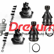 4pc Front Upper Lower Ball Joint For Nissan 86-94 D21 95-97 Pickup 2wd 3.0l 2.4l