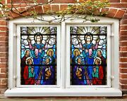 3d Priest Light A502 Window Film Print Sticker Cling Stained Glass Uv Amy