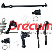 7pcs Steering Center Link Tie Rods Upper Ball Joint Set For Nissan Frontier Rwd