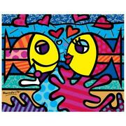 Romero Britto New Deeply In Love Hand Signed Giclee