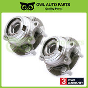 Pair Front Lh And Rh Side Wheel Bearing Hub 5 Lugs For Nissan Murano Quest W/abs