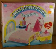 Vintage Mlp My Little Pony G1 Uk Exclusive Bed And Crib Playset Surprise Twins