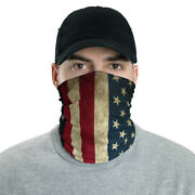 Face Scarf Cover Mask Neck Gaiter For Men And Women - American Flag - 50pcs