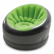 Intex Empire Indoor Inflatable Blow Up Dorm Room Lounge Air Chair Lime Green