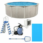 Aquarian Phoenix 15ft X 52in Above Ground Swimming Pool W/pump And Pool Ladder