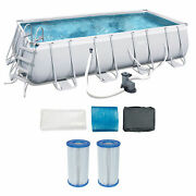 Bestway 18ft X 108in Above Ground Pool Set W/ladder, Pump And Cartridges 2 Pack