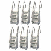 Vinyl Works Deluxe In Step 46 - 60 Above Ground Pool Ladder White 6 Pack
