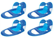 Swimways Spring Float Recliner Pool Lounge Chair W/ Sun Canopy 4-pack
