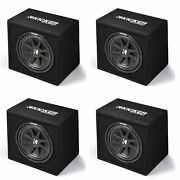 Kicker 43vc124 Comp 12 300w 4 Ohm Vented Loaded Subwoofer Enclosure 4 Pack