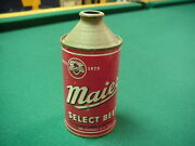 Maier Select Beer Cone Top Can Collectible Vintage Nice