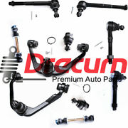 10pc Front Upper Control Arm Ball Joint Tie Rod Kit For F150 F250 Expedition 2wd