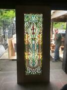 Beautiful Hand Made Stained Glass Victorian Style Entry Door - Jb22