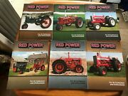 Lot Of 6 International Harvester Red Power Magazines Full 2008 Year Tractor Farm