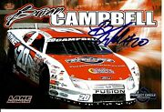 Brian Campbell Signed Perfect Circle Race Cars Promo 4x6 Photo