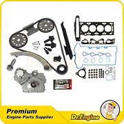 Timing Chain Oil Pump Kit W/ Head Gasket Head Bolts Set Fit For 07-08 Chevy 2.2l