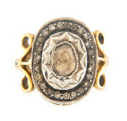 14kt Yellow And White Gold Rare Vintage Womenand039s Diamond Ring Size 7