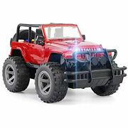 Car Toy Off-road Military Fighter Friction Powered Vehicle With Fun Lights Andamp