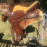 Endurance Saddle 16 Andlsquocup Holders Synergist Sheep Skin Lined Seat Tree And Pad.