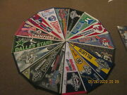 Nhl Lot Of 16 1980's 1990's And 2000's 2 Defunct Team Logo Hockey Pennants