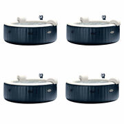 Intex Pure Spa Inflatable 6-person Bubble Hot Tub 4 Pack