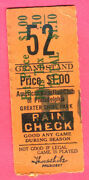 Super Vintage 1932 Philly A's...shibe Park Ticket Stub-cool Ad On Back