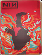 Blood Red Variant Nine Inch Nails 18 San Francisco Poster Print Jermaine Rogers