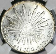 1881-ca Ngc Ms 63 Mexico 8 Reales Chihuahua Silver Coin Pop 1/1 17073001d