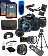 Canon Eos Rebel T7 Dslr Camera With 18-55mm F/3.5-5.6 Zoom Lens Usa Warranty