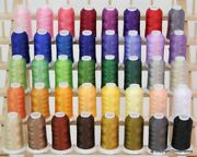 Premium Polyester Brother Machine Embroidery Thread Set Of 40 Colors