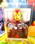 Iron Man Oil Bronze Age Sketch Card By Charles Hall - Free Shipping