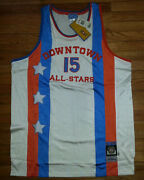 Stall And Dean Basketball Jersey Downtown All-stars Nwt 3xl White Blue 15 S3089