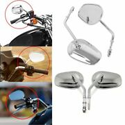 8mm Motorcycles Rearview Side Mirror Fit Harley Davidson Sportster Dyna Touring