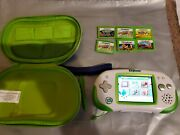 Leap Frog Leapster Explorer Green And White Handheld System With 6 Games, Case