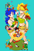 Dragon Ball Z Poster Lunch Nice And Naughty 12inx18in Free Shipping