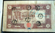 Vintage Wwii Andigrave Italian 1000 Lire Note Paper Money Circulated Padova Bank Italy