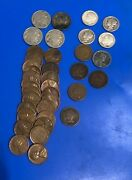 Mixed Us Coin Lot Buffalo Jefferson Nickels Silver Dimes Wheat Indians Penny