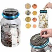 2.5l Piggy Bank Counter Coin Electronic Digital Lcd Counting Coin Money Saving