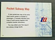 New York City Transit Pocket Subway Map Notice Poster Sign 1960and039s Bmt Irt Ind