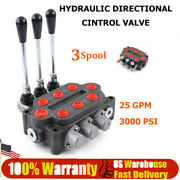 3spool 25gpm Hydraulic Directional Control Valve Double Acting Tractors Loaders