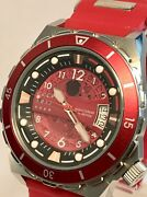 Cccp Aurora Skelenotized Red/silver Bezel And Dial/custom Band Auto Mens Watch