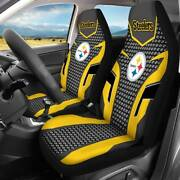 Pittsburgh Steelers 2pcs Car Seat Cover Universal Truck Front Seat Protector