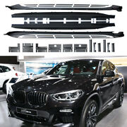 Fits For Bmw X4 G02 2019-2021 Running Boards Side Steps Pedal Nerf Protector Bar