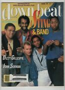 Down Beat Magazine Sting And Band Dizzy Gillespie December 1985 052820nonrh