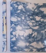 9ft Marble Blue Contact Paper Self Adhesive Shelf Liner Peel And Stick
