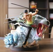 One Piece Luffy Friend Roronoa Zoro Tiger Fighting Style Action Figure 24cm