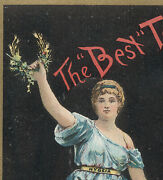 Phil Best Brewing Co, Best Tonic Trade Card Malt And Hops, Beautiful Lady  V211