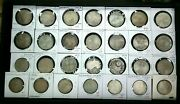 Lot Of 28 5 And 10 Marks German Silver Coins Outstanding Coins Mixed Dates I922
