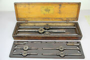 Antique 1885 Little Giant Tap And Die Wells Brothers Greenfield Mass Big Set Case